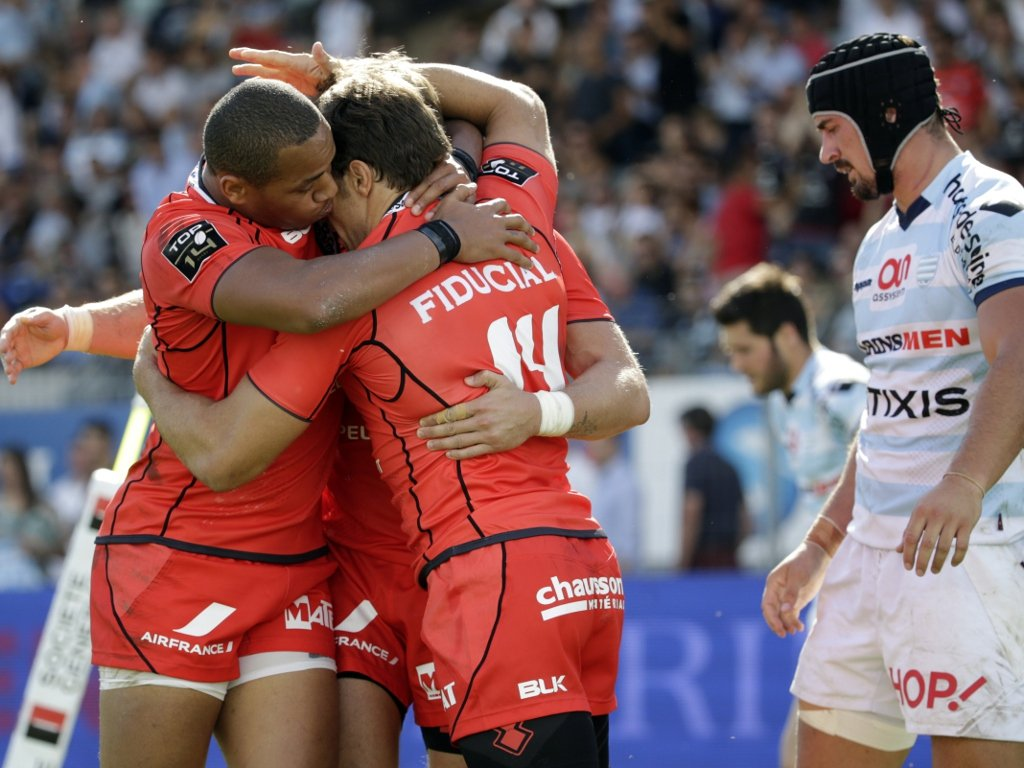 Toulouse celebrate a crucial try