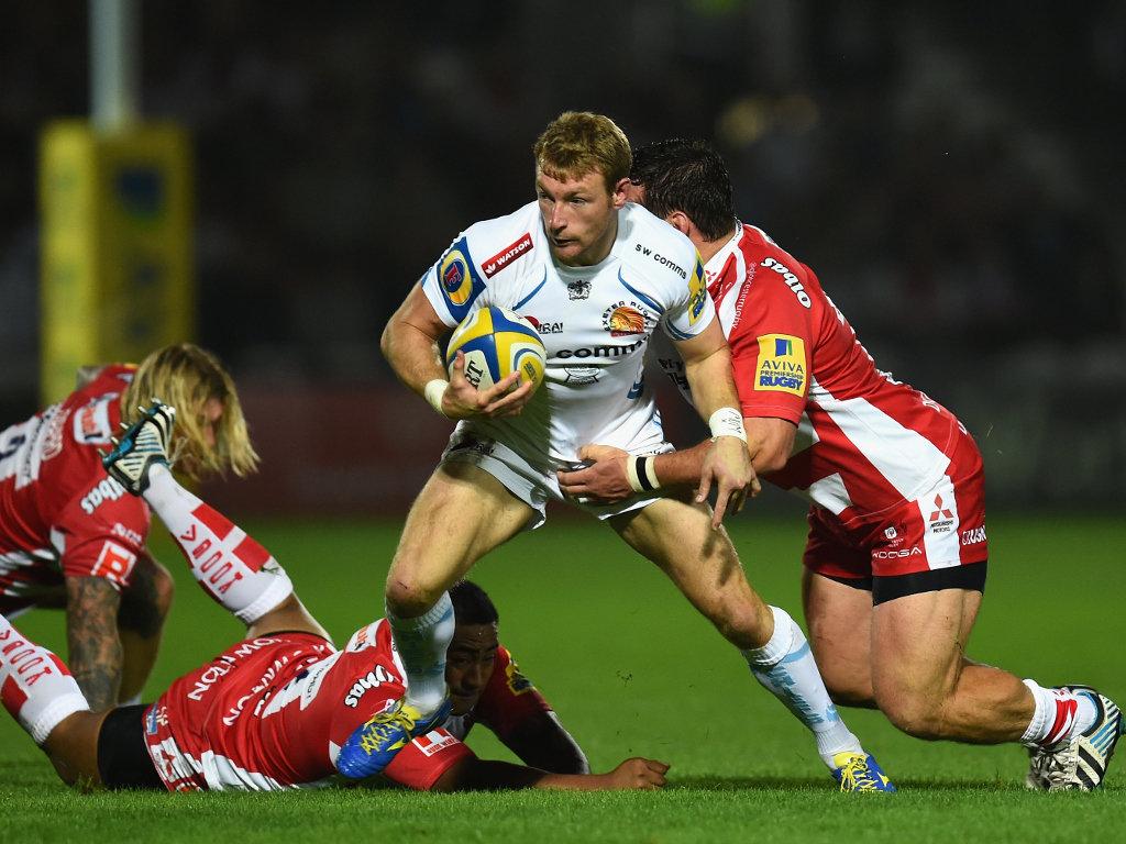 Busy for Exeter: Matt Jess