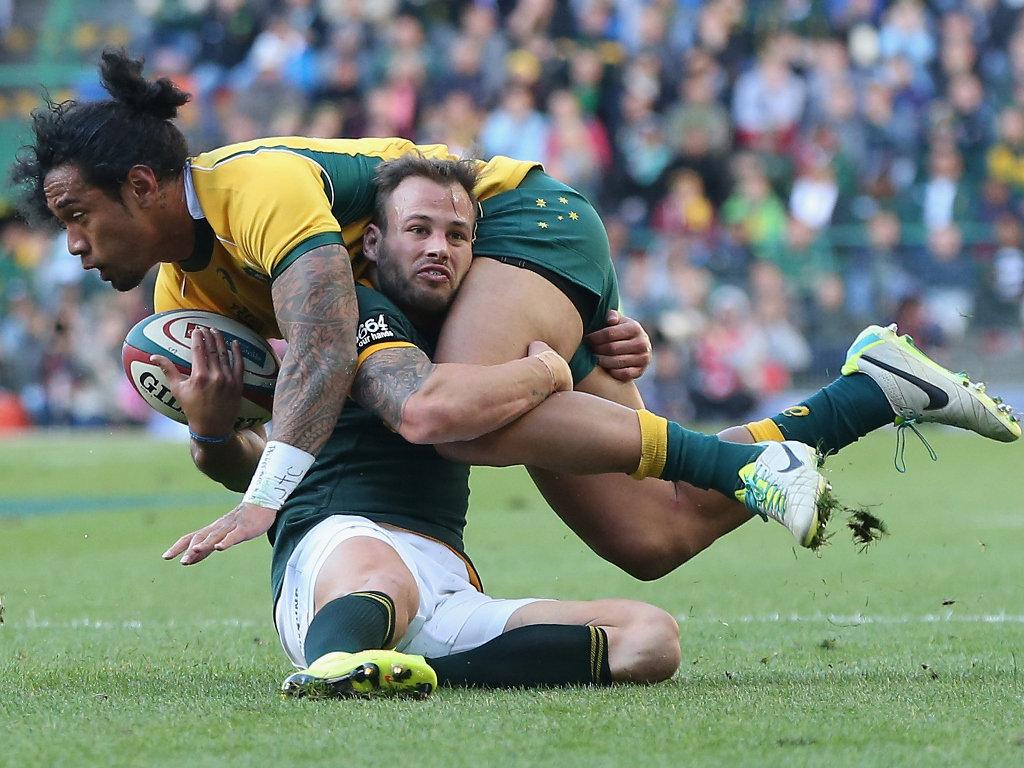 Francois Hougaard made a try-saving tackle on Joe Tomane
