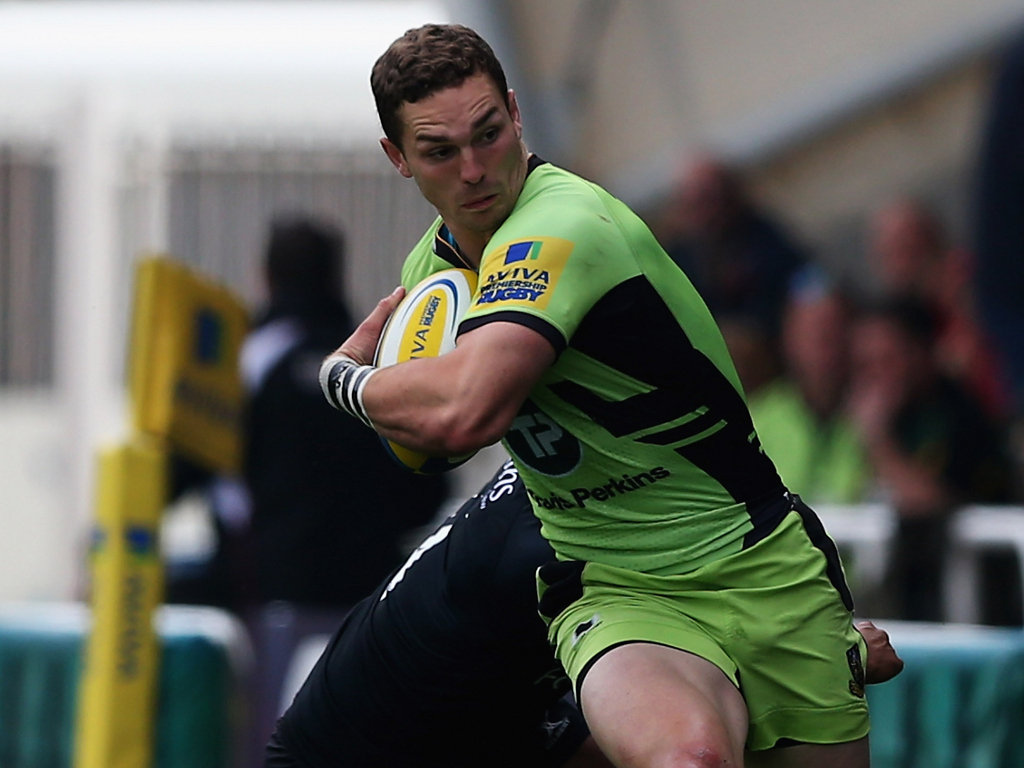 Late try: Northampton wing George North