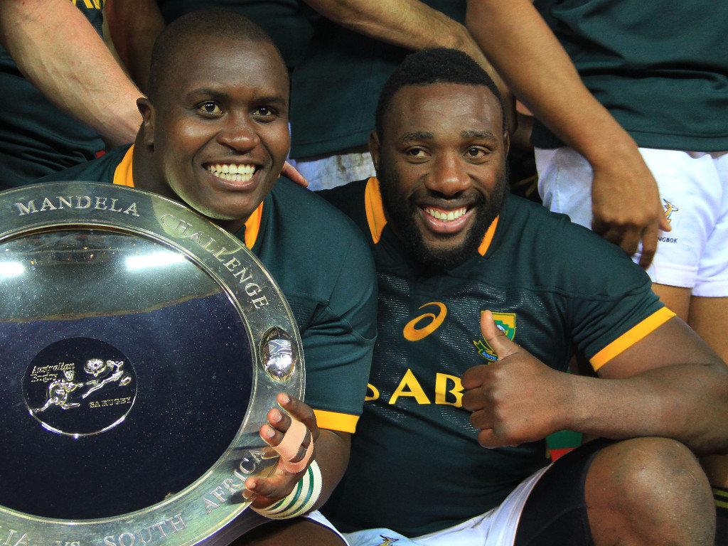To the victors the spoils: Trevor Nyakane and Tendai Mtawarira