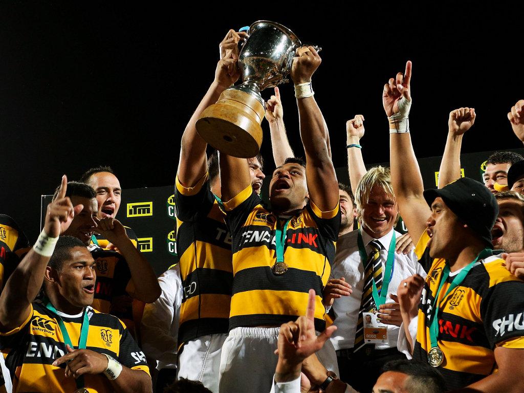 Champions! Seta Tamanivalu raises the ITM Cup
