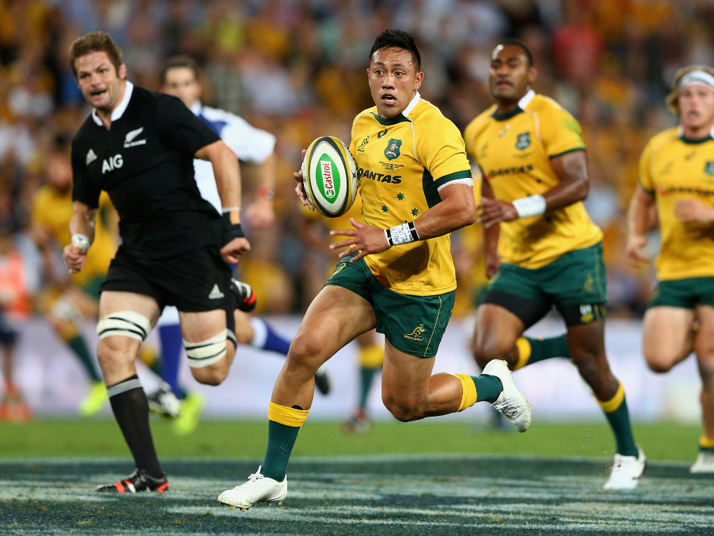 In some room: Christian Lealiifano set up the first try