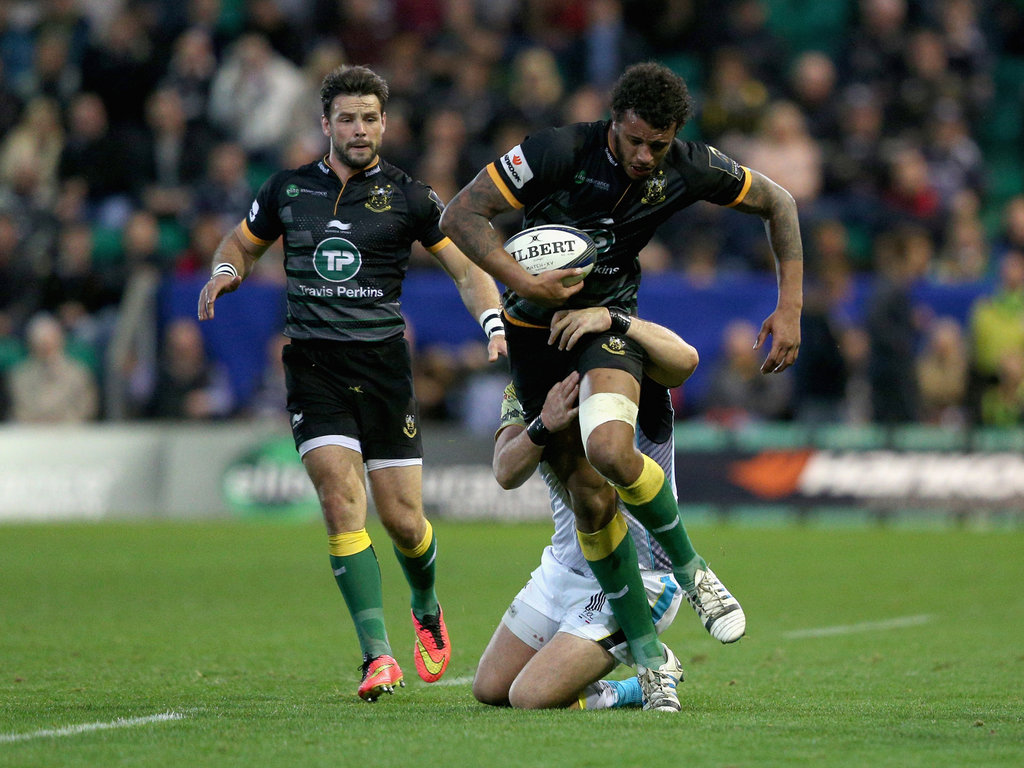 Courtney Lawes was at his athletic best