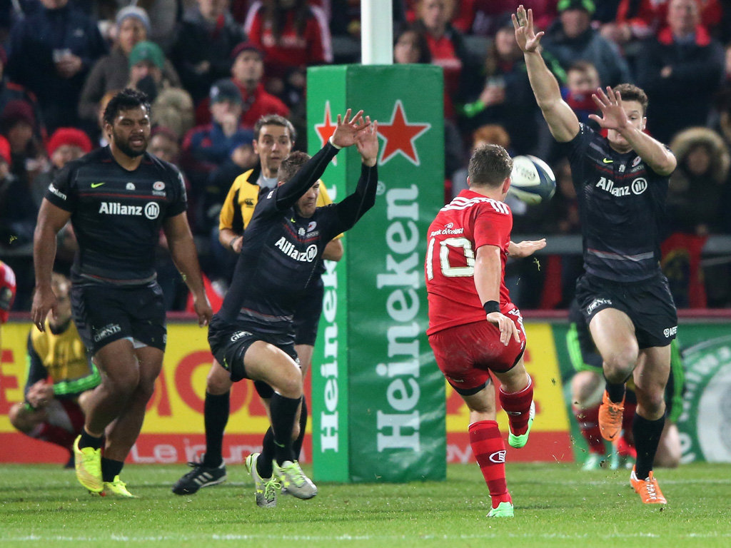 Ian Keatley slotted a late drop goal to seal the win