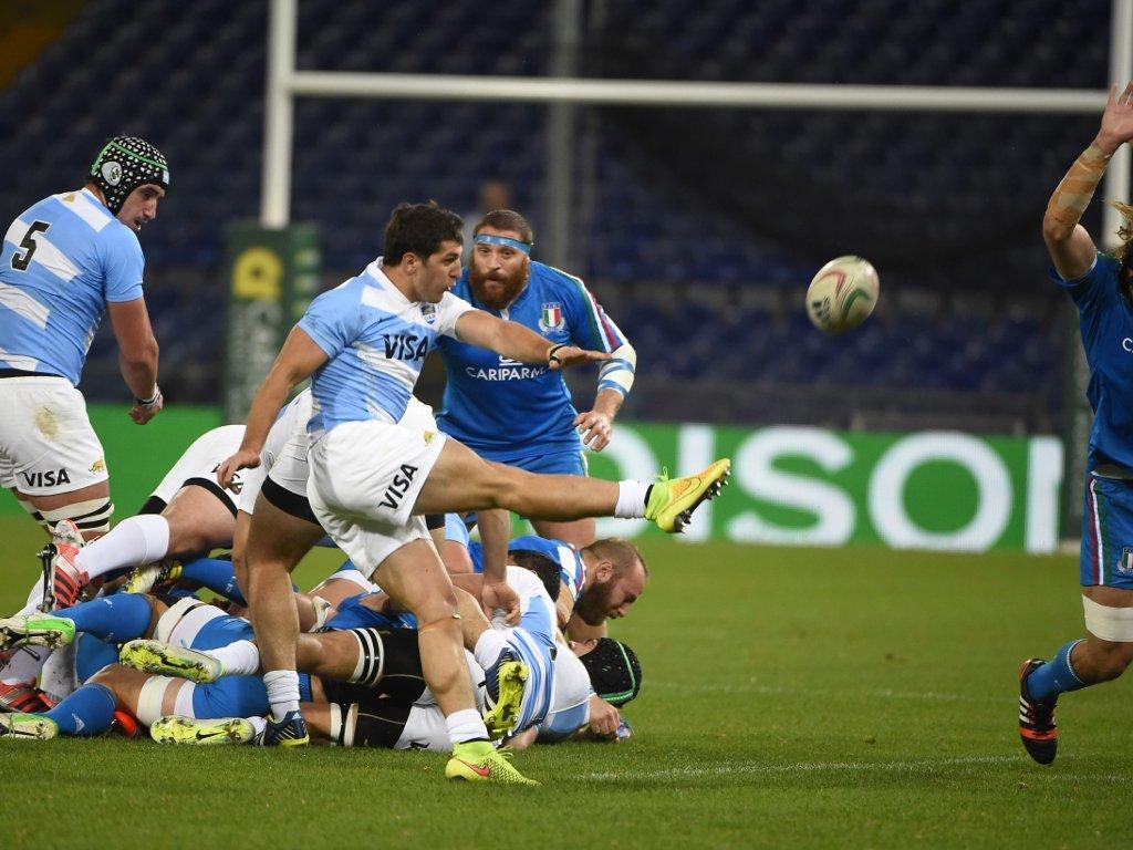 Box-kicking: Argentina scrum-half Tomás Cubelli
