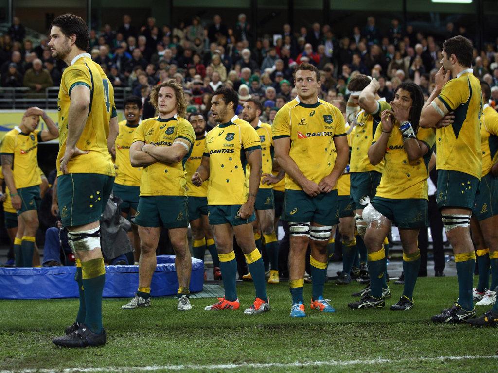 Different mood: Australia look on