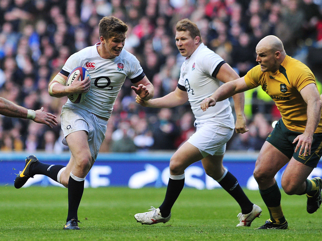 Owen Farrell scored as England won 20-13 in 2013