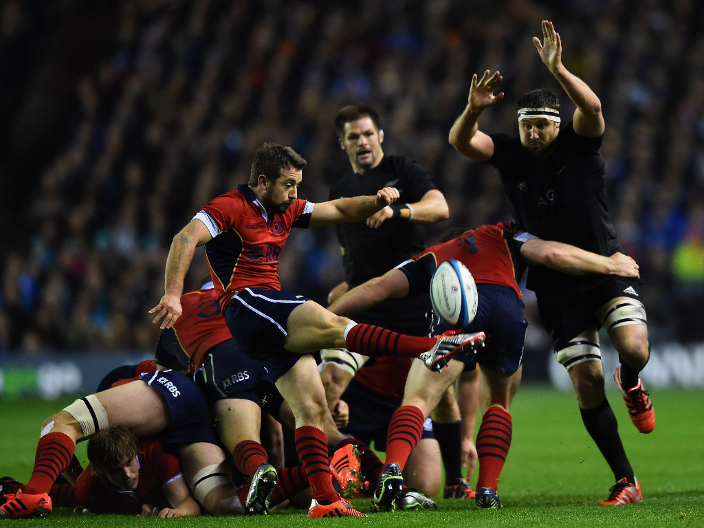Clearing his line: Greig Laidlaw