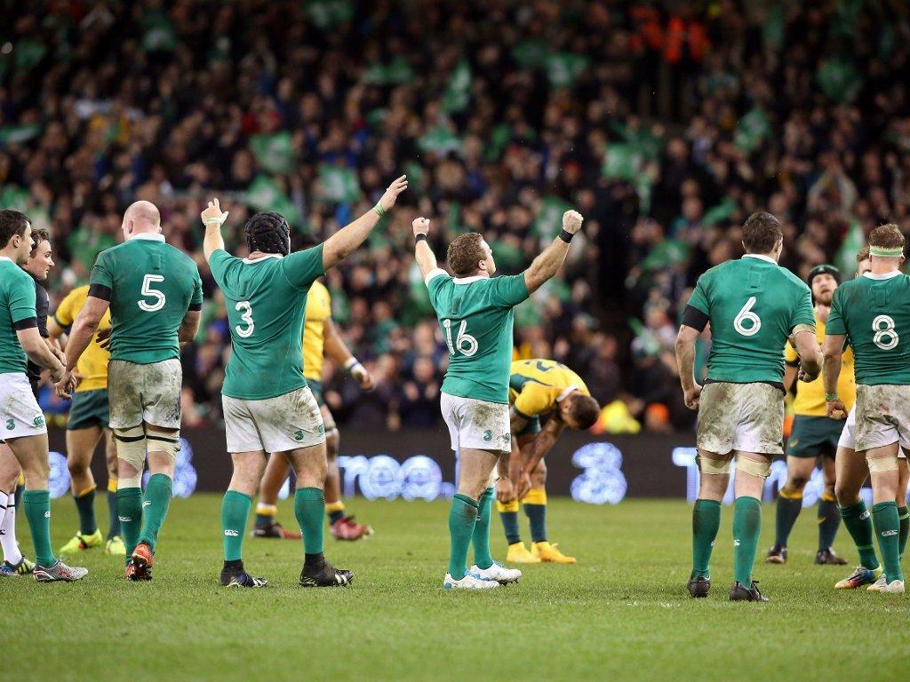 Victory: Ireland celebrate