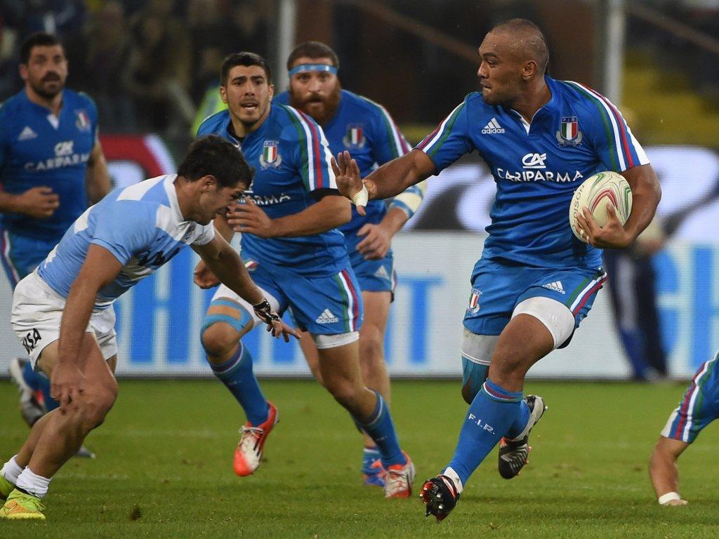 Played well: Italy fly-half Kelly Haimona