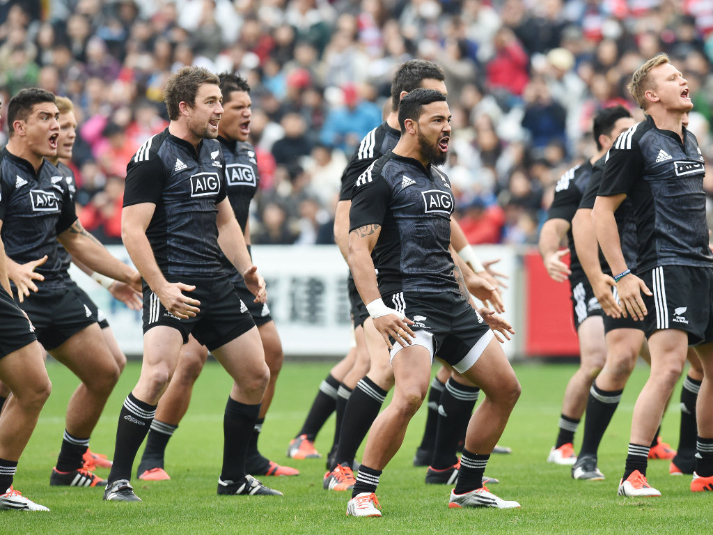 Fired up: The Maori All Blacks perform their haka