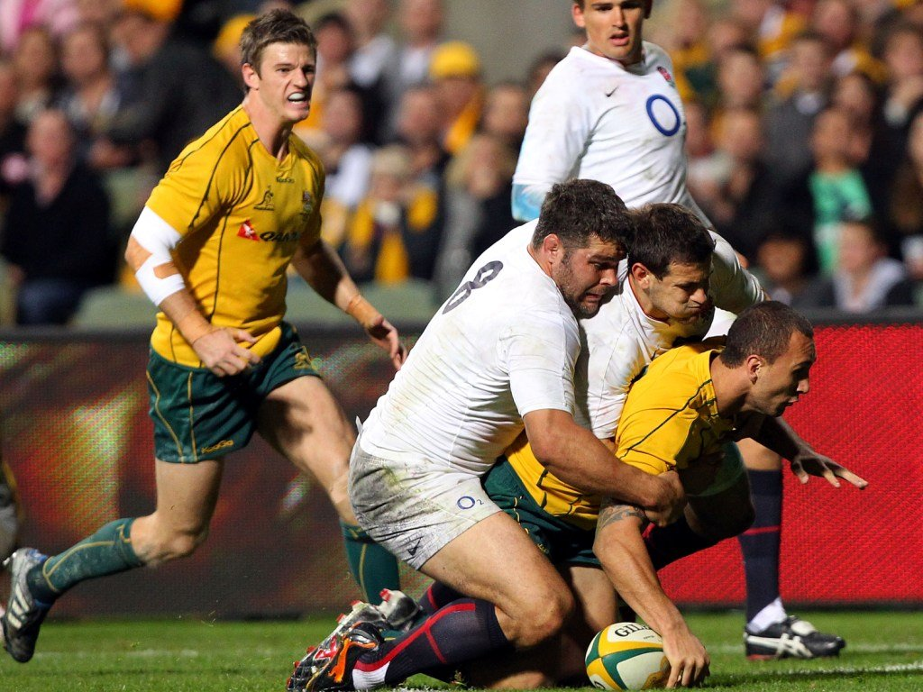 Quade Cooper then scored twice as Australia made it three in a row in 2010