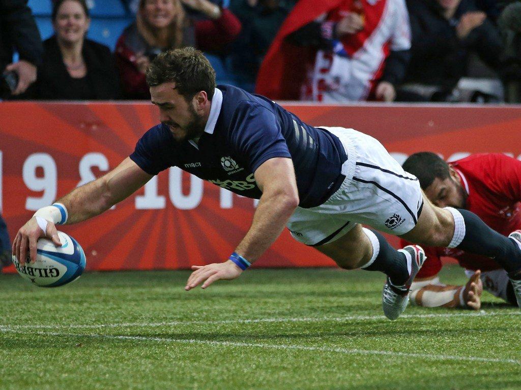 Second-half try: Alex Dunbar