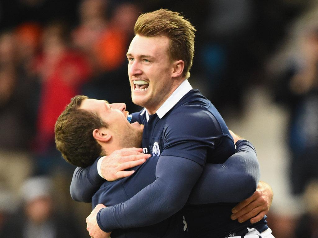 Congratulated after scoring: Hogg