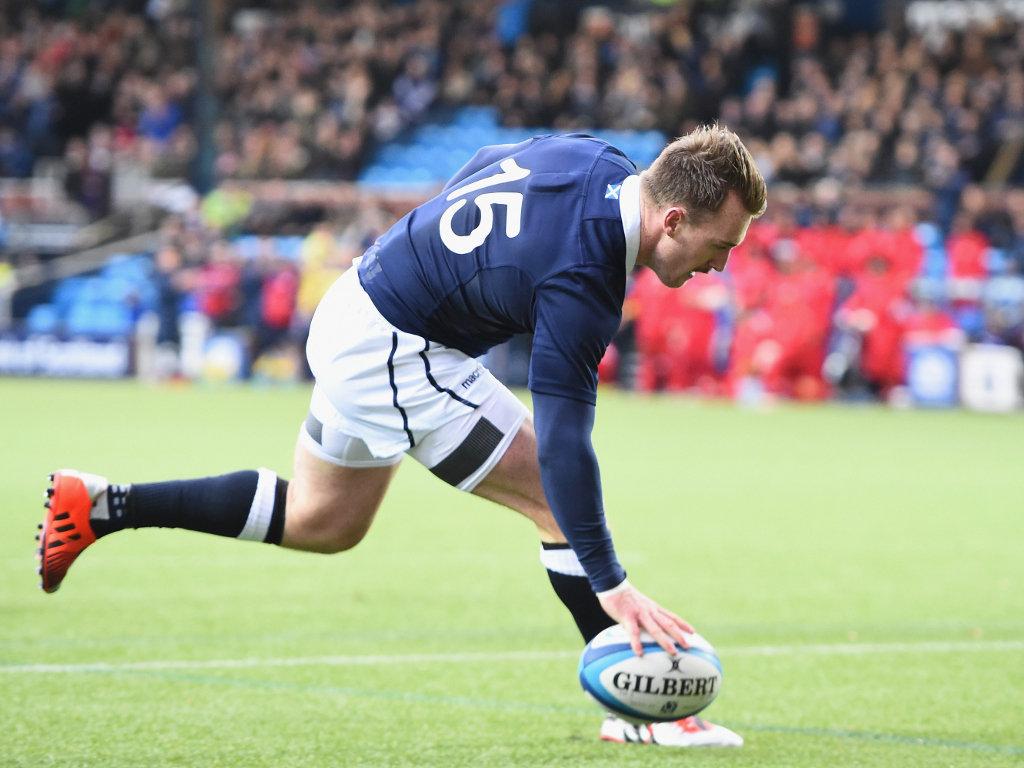 Breakaway try: Stuart Hogg
