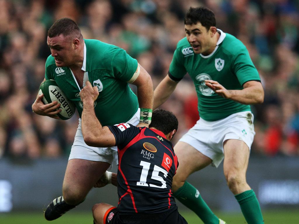 Dave Kilcoyne met in the tackle