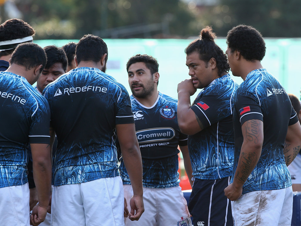 Ready for action: Samoa