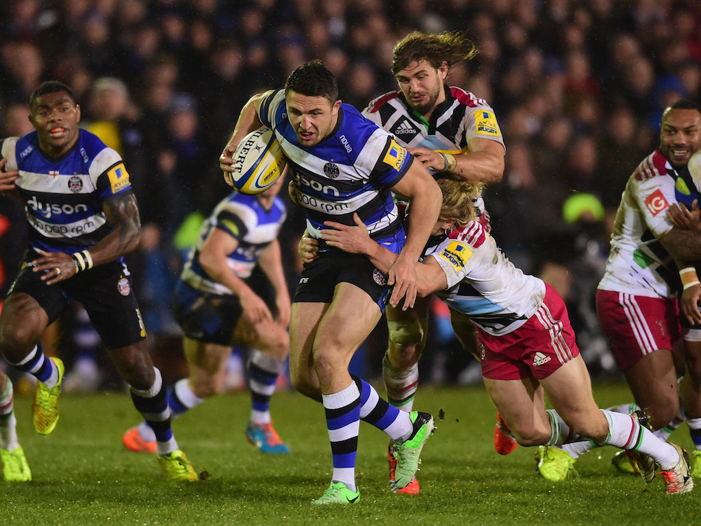 Strong carry: Burgess was in the thick of things in the second half