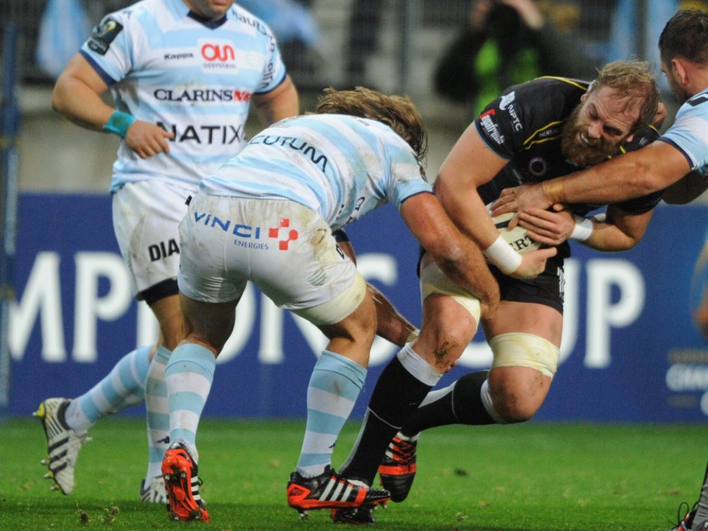 Alun-Wyn Jones carried the ball well for the Ospreys as they fought back