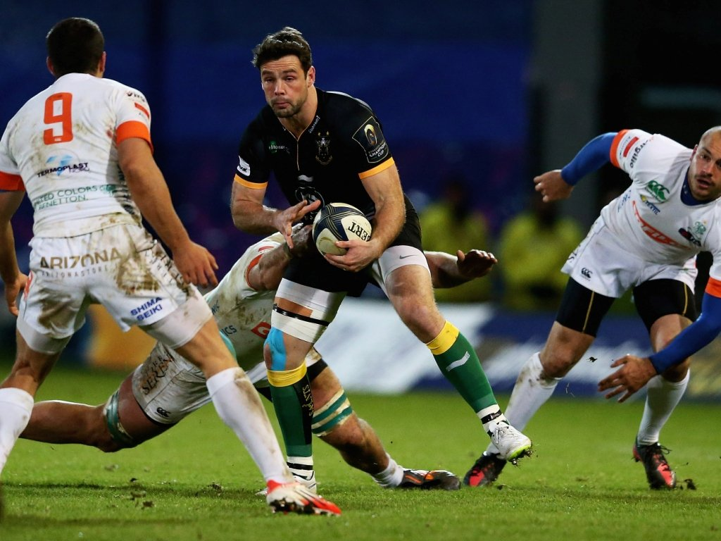 Ben Foden chipped in with Saints' eleventh try