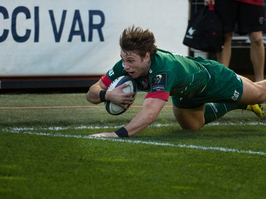 Blaine Scully's try got Leicester on the board in Toulon