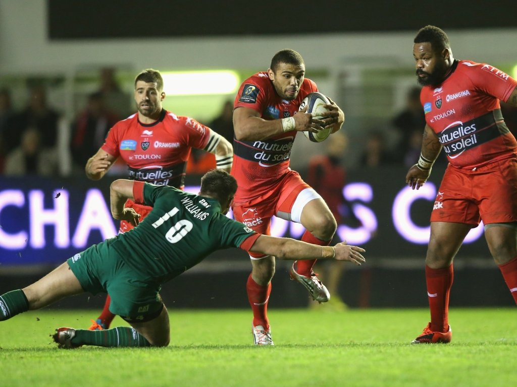 Bryan Habana made a lot of ground for Toulon against Leicester