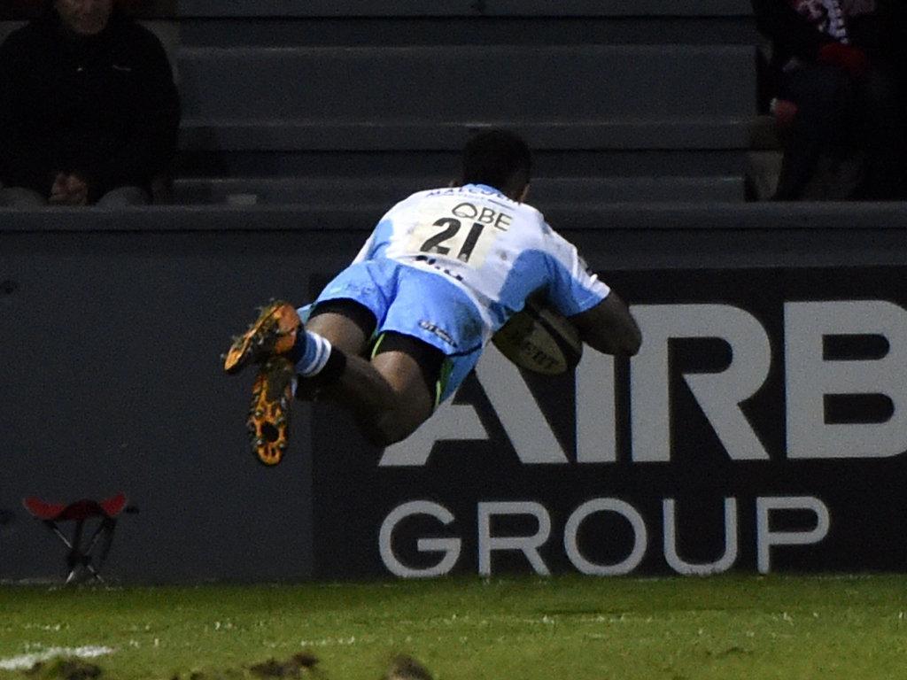 Nikola Matawalu score a consolation try for Glasgow