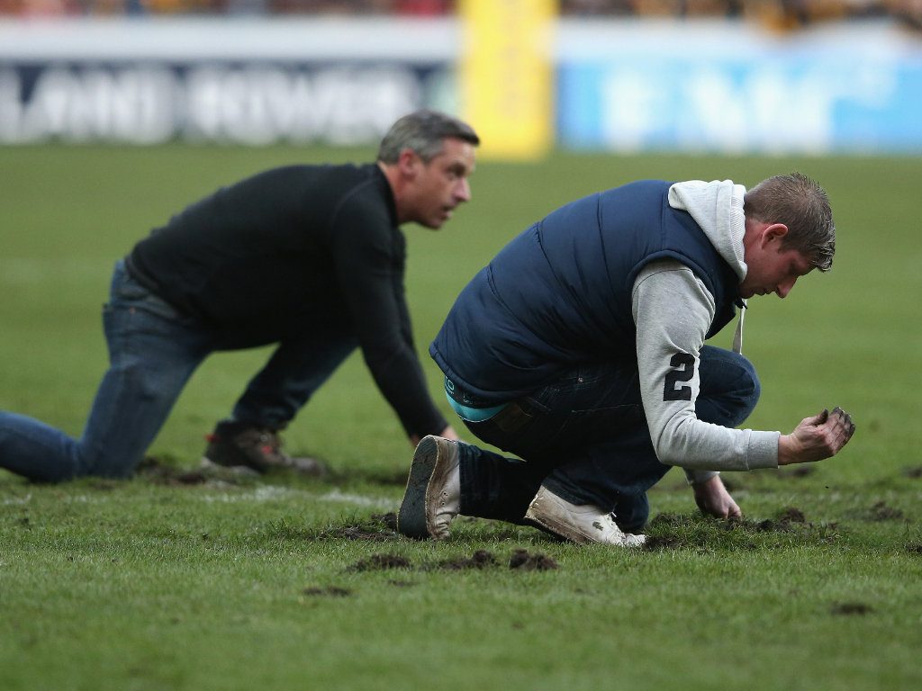 Hard at work: The groundstaff