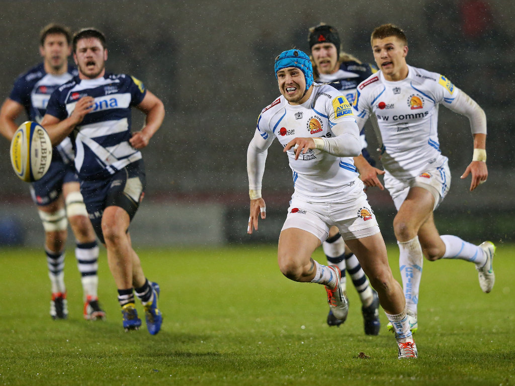 Giving chase: Jack Nowell