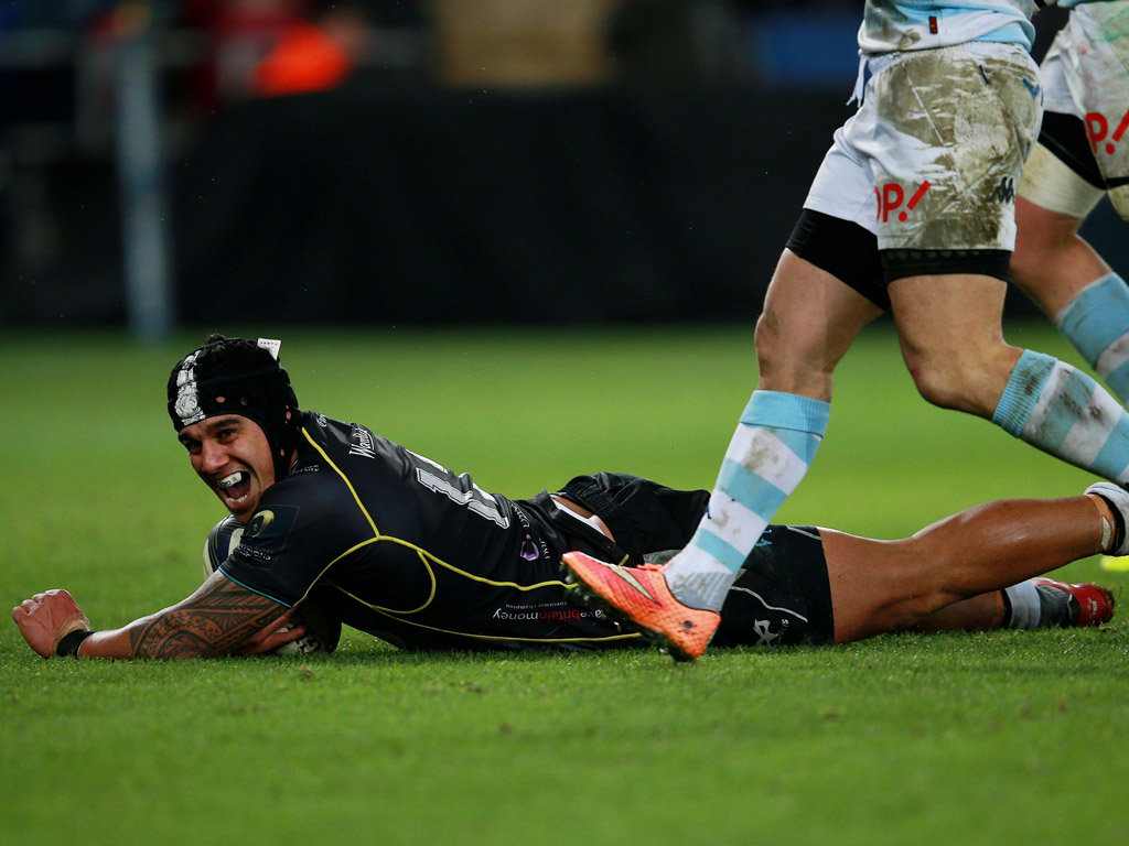 Josh Matavesi's late try snatched a draw for Ospreys