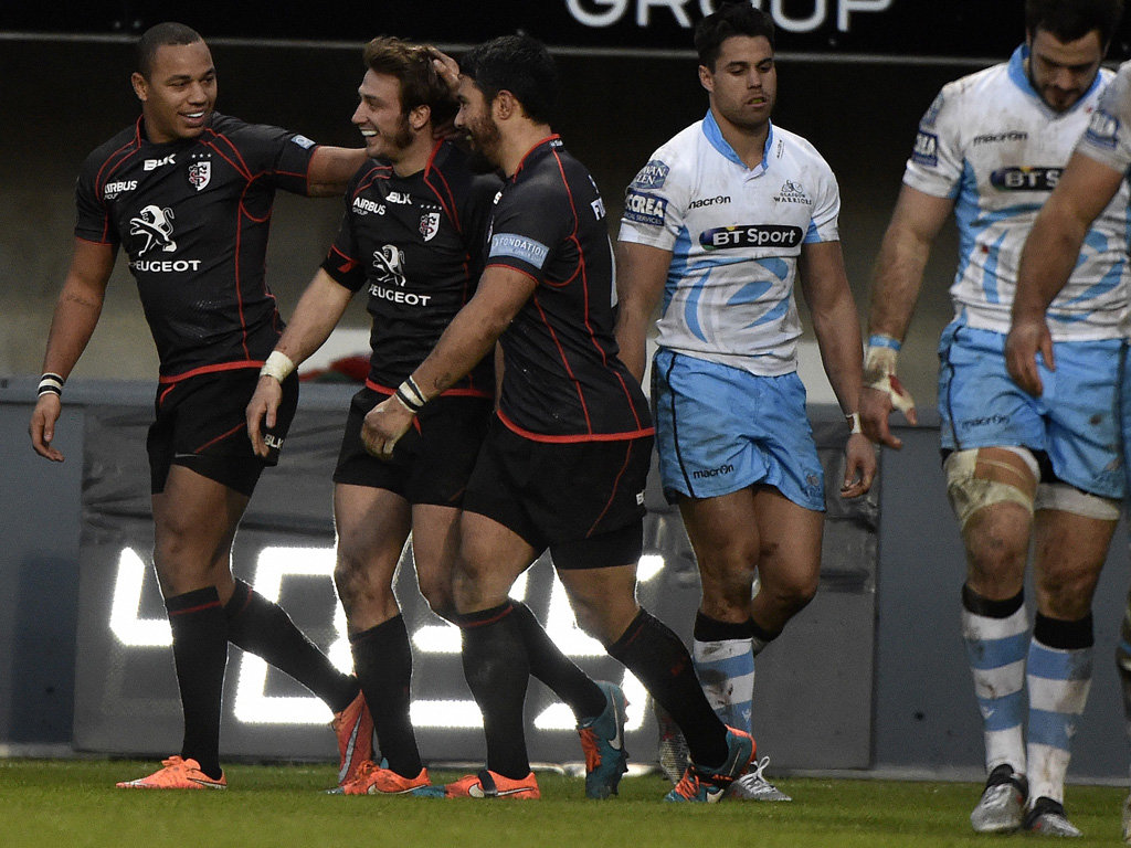 Médard scored Toulouse's only try
