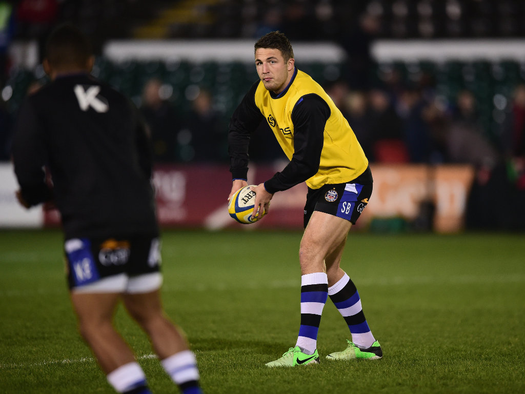 Preparing for his rugby union debut: Bath's Sam Burgess