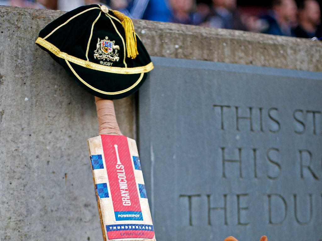 Fitting tribute: The Wallabies paid respect to departed Test cricketer Phil Hughes