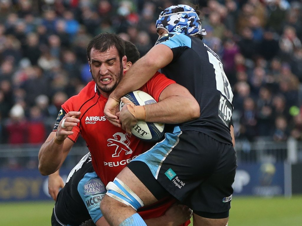 Yoann Maestri was very active all over the park for Toulouse