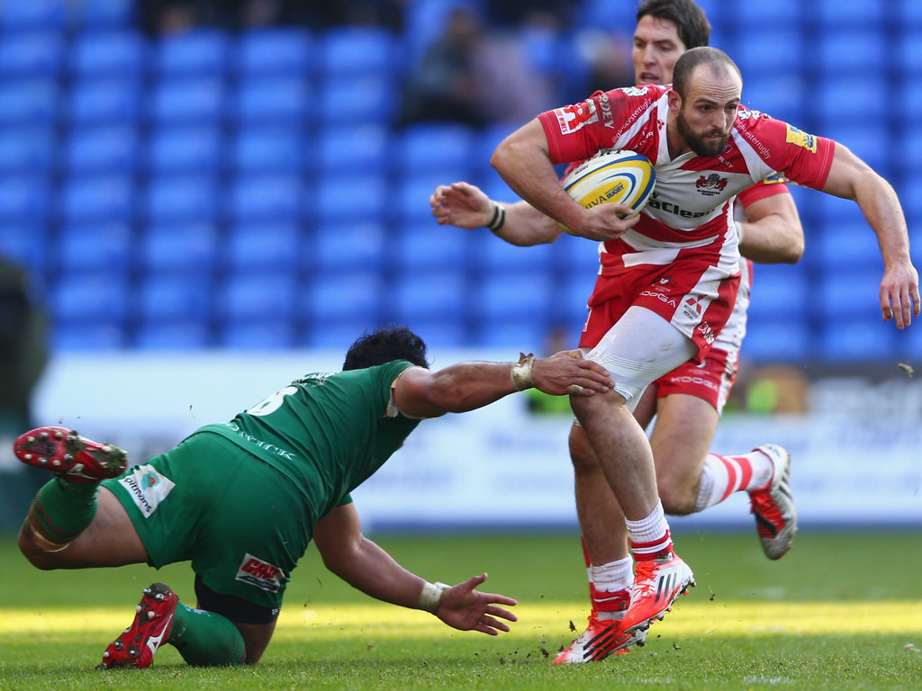 Stepping out: Gloucester's Charlie Sharples