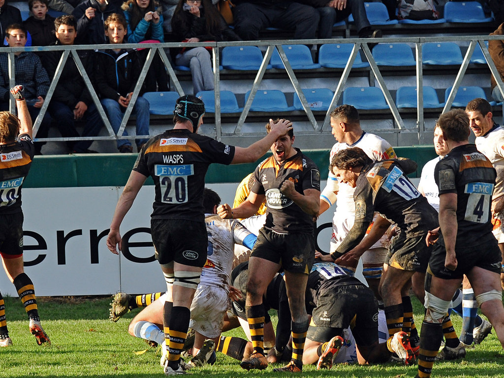 Wasps scored two tries in the first half in Castres
