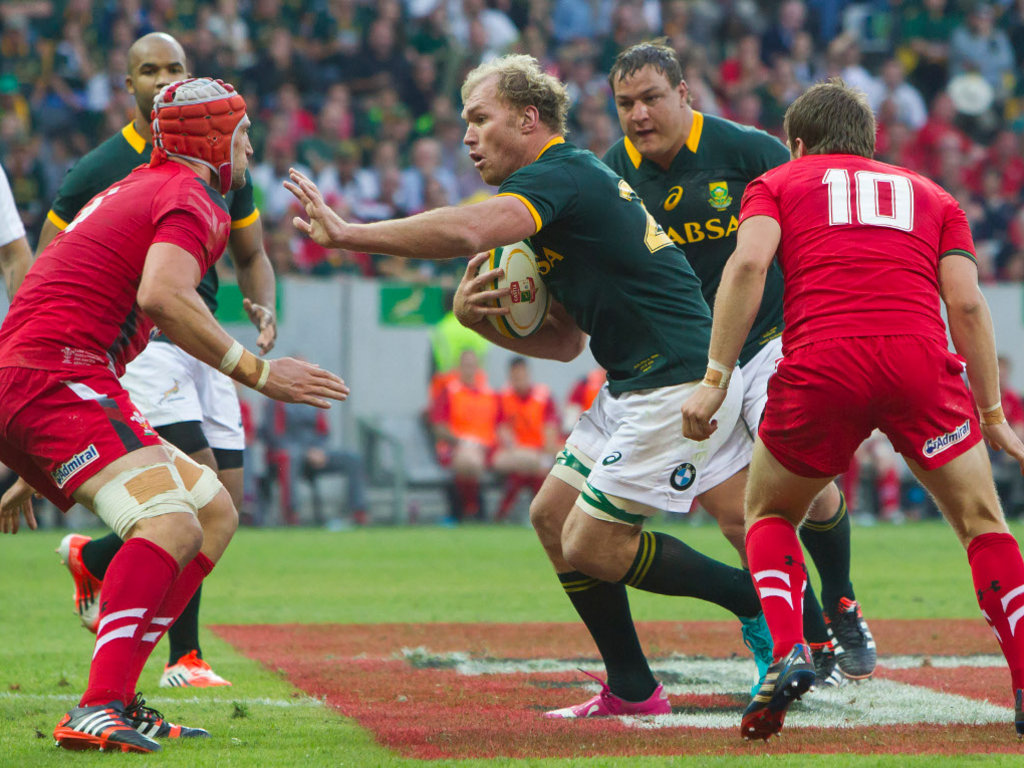 Springbok great Schalk Burger made his Test return against Wales
