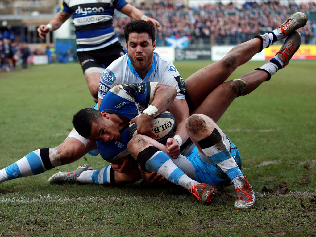 Stopped just short: Anthony Watson