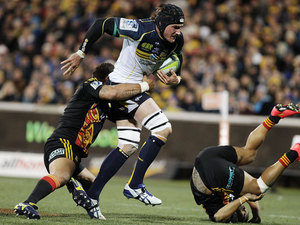 Ben Mowen led the Brumbies to victory in their play-off clash with the Chiefs