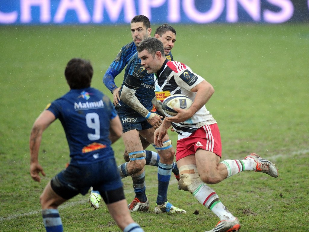 Carrying: Harlequins number eight Nick Easter