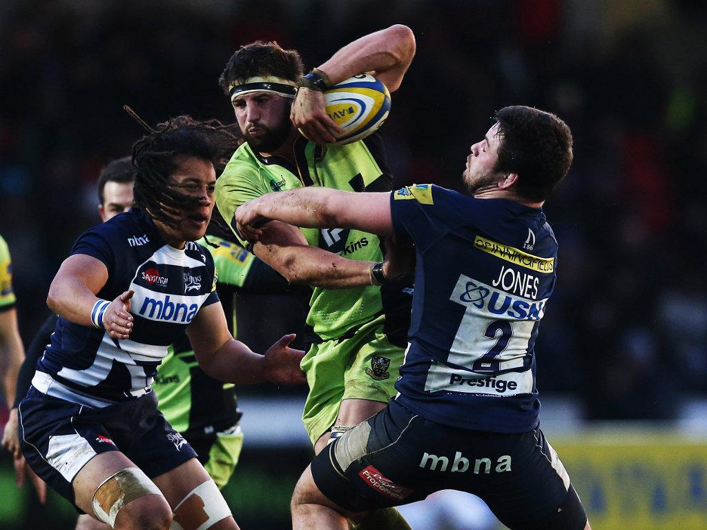 Held: Saints flanker Tom Wood