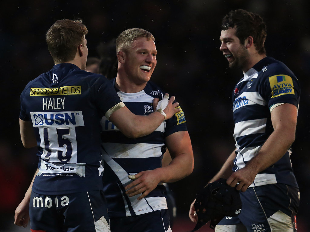 All smiles: Sale prop Ross Harrison at full-time