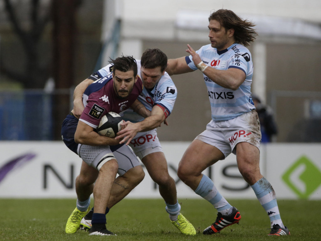 In a spot of bother: Bordeaux's Sofiane Guitoune