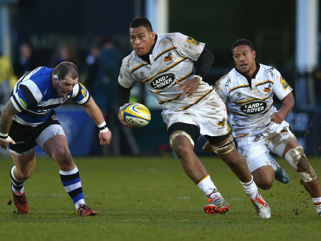 Another try: Wasps number eight Nathan Hughes