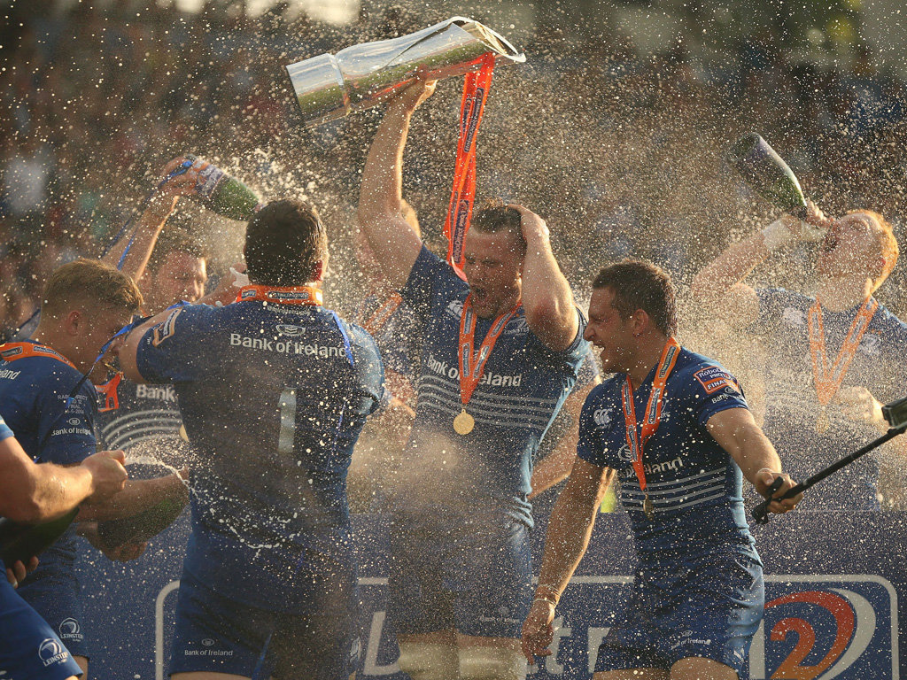Leinster were crowned PRO12 winners for the second successive year