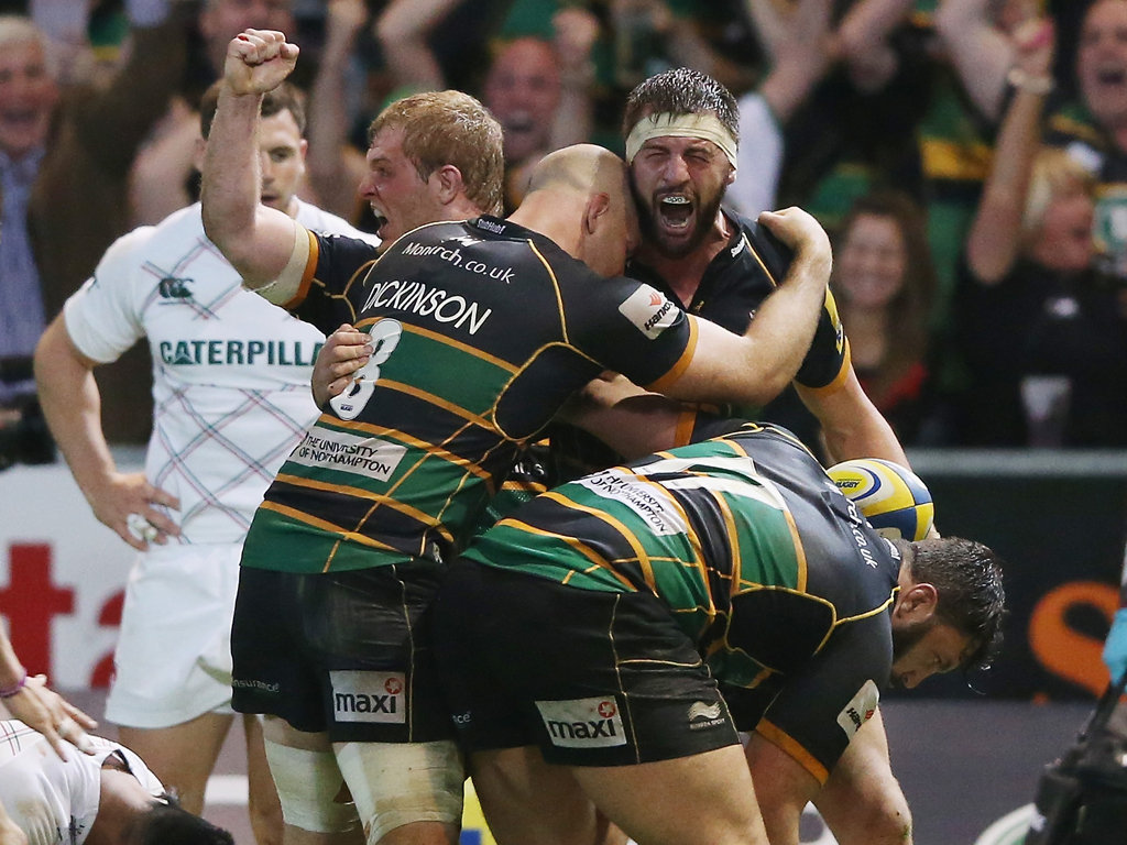 Tom Wood can't hide his delight after Northampton's epic Premiership semi-final win over Leicester