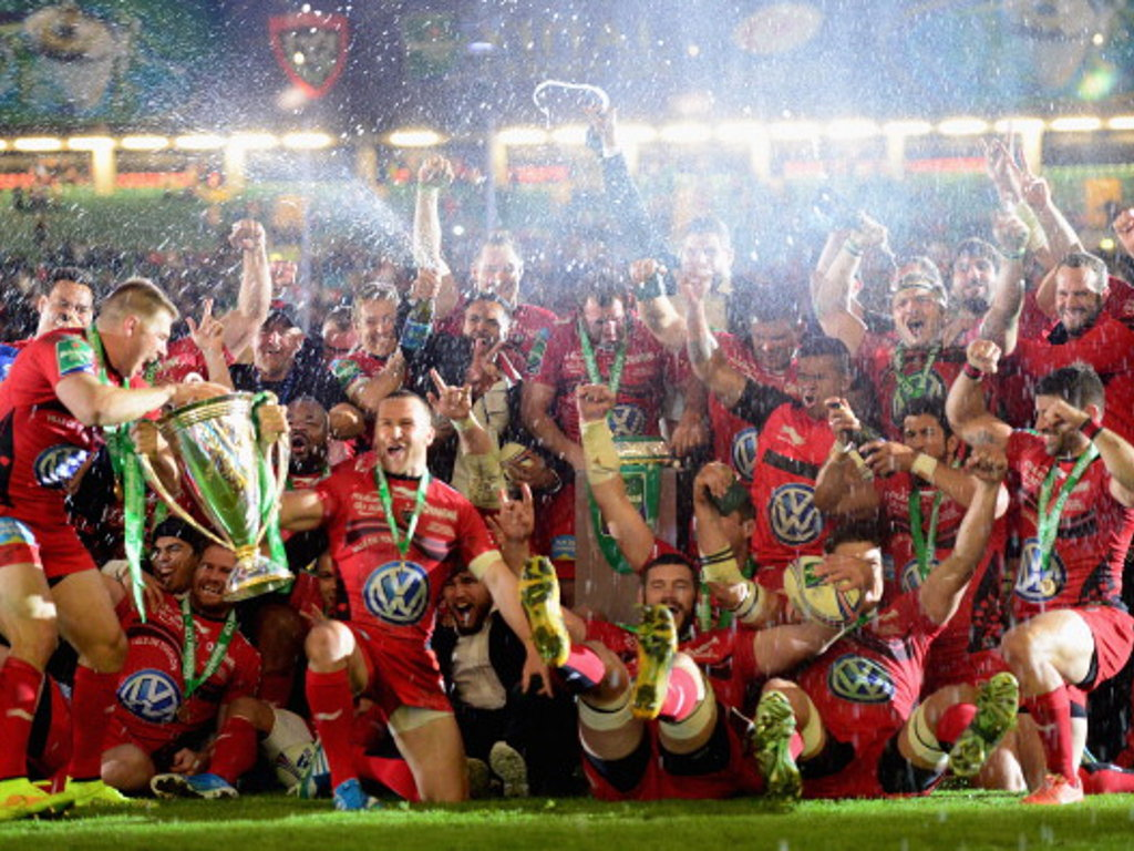 Toulon celebrate their second Heineken Cup win