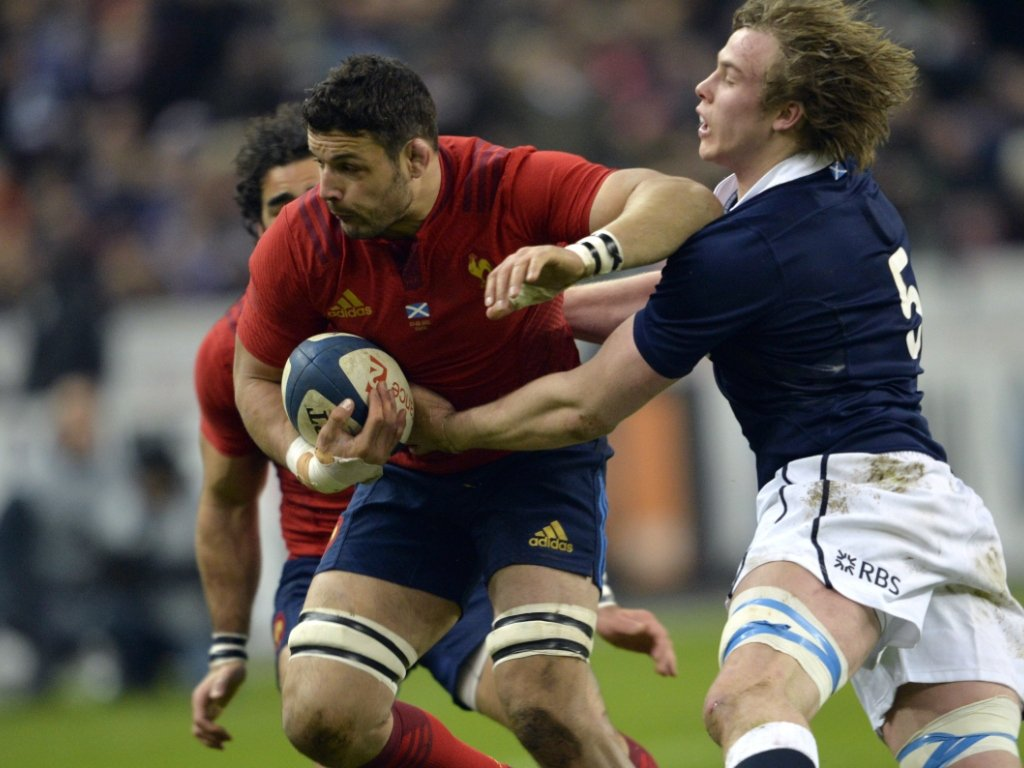 All-rounder: Damien Chouly carried and tackled well for les Bleus