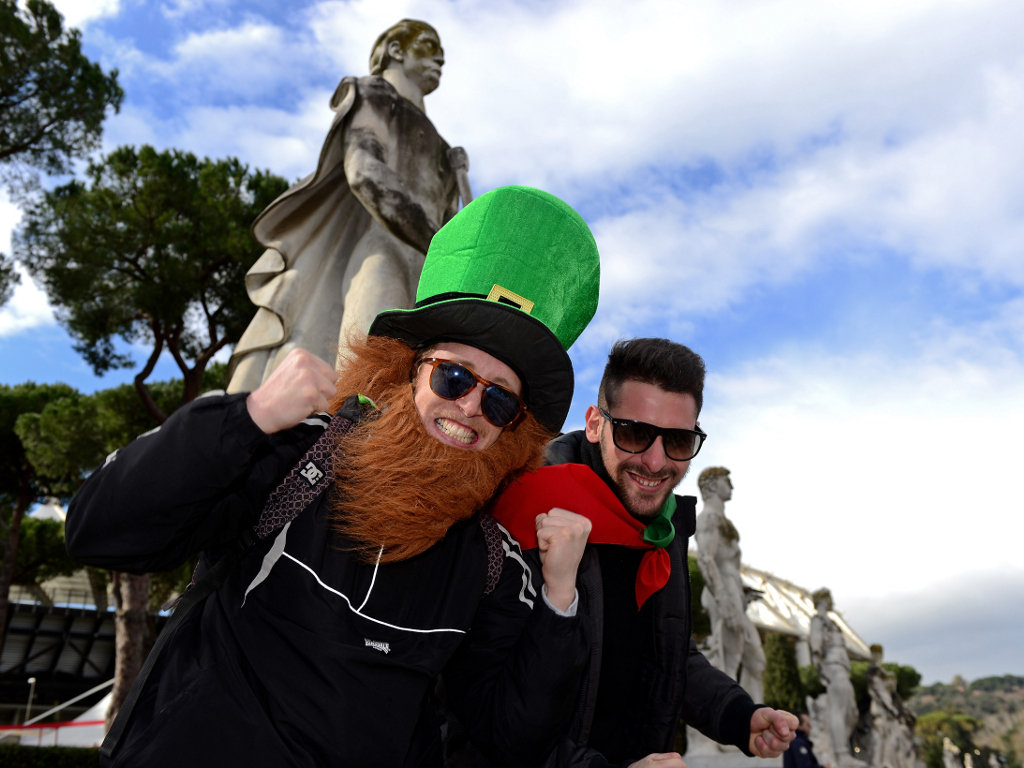 The Irish fans were out in force in Rome
